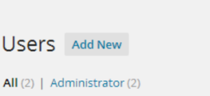 Add User in WordPress