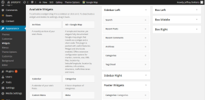 WordPress widgets in footer